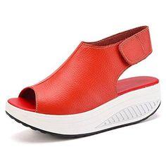 b0ac04a0045 Comprar Ofertas de Bdawin Shape Ups Mujer Cuero Confort Peep Toe