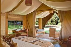 Beautiful tents at Naboisho Camp in Kenya's Masai Mara! To find out more about creating your luxury safari experience visit www.trueafrica.com