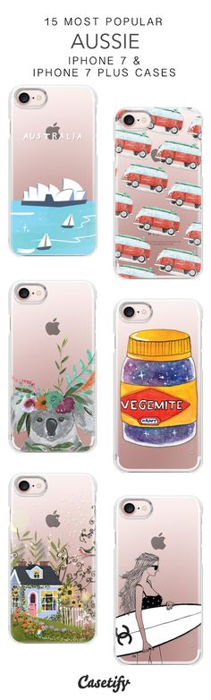 15 Most Popular Aussie Protective iPhone 7 Cases and iPhone 7 Plus Cases. More Australia iPhone case here > https://www.casetify.com/collections/top_100_designs#/?vc=uWhJKp2WEm