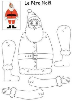À imprimer pour faire un père Noël... ...