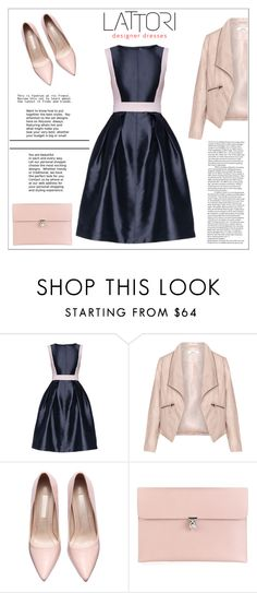 """""""LATTORI dress"""" by water-polo ❤ liked on Polyvore featuring Lattori, Zizzi, Alexander McQueen, women's clothing, women, female, woman, misses, juniors and dress"""