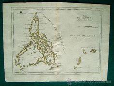 Arte: ISLES PHILIPPINES-ISLAS FILIPINAS-GEORGES LOUIS LE ROUGE-PALAOS,CAROLINAS-MAPA 24X33 CM-AÑO 1748-60. - Foto 1 - 36030213