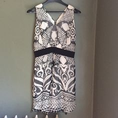 "✨HP✨Milly Black Tribal Print Dress Gorgeous black and white tribal print silk dress. Worn only once! Zips up the back. Fully lined. Host Pick ""Statement Style"" 8/9/16. Milly Dresses Mini"