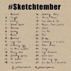 Sketchbook Prompts, Sketchbook Challenge, Art Journal Challenge, Art Journal Prompts, Art Sketchbook, Writing Prompts, Drawing Ideas List, Drawing Tips, Comics Sketch