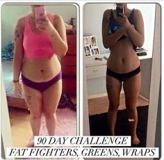 She got great results from her 90 day challenge, you can too. Start today. Message me at www.mandzwraps.com and LIKE Mandzwraps on Facebook