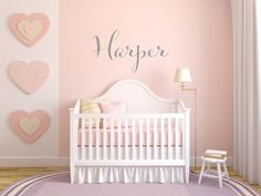 Personalized Name Wall Decal for Baby's Nursery