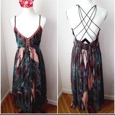 Free People Dresses & Skirts - Beautiful Free People Wanderlust Maxi Dress NWOT