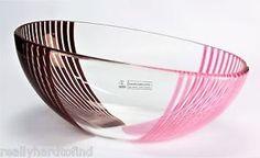 Signed Murano glass Bowl Italy Effetre International Lino Tagliapietra vase   eBay