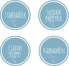 Etykiety przypraw - Hledat Googlem Spice Jar Labels, Spice Jars, Spices, Personalized Items, Stamps, Cards, Diy, Seals, Spice