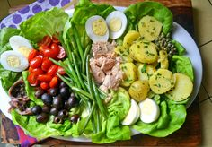 Almost too pretty to eat! Julia Child's Salad Nicoise #JC100 #CookForJulia