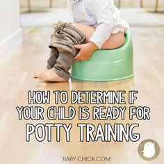 We're sharing signs of potty training readiness. See if your child is ready!