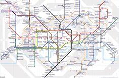 Iconic British Things Part The London Underground Map London Underground, Underground Tube, Oyster Card, Shanghai, London Tube Map, London Tips, Metro Map, Information Visualization, Subway Map