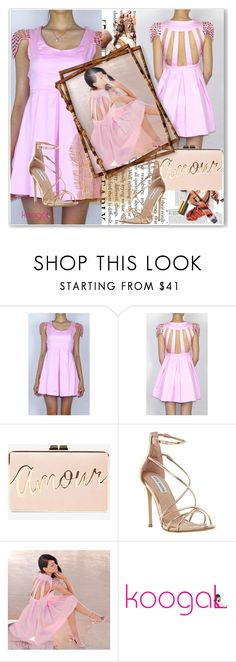 """""""Pink 2"""" by jnatasa ❤ liked on Polyvore featuring BCBGMAXAZRIA and Steve Madden"""