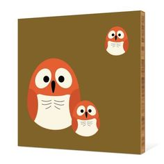 Owl Family Bamboo Wall Art