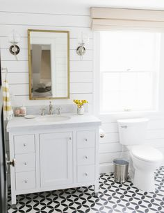 bathrooms with shiplap walls - Google Search