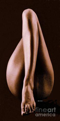 Leg Pose Favorite Digital Art by Rafael Salazar