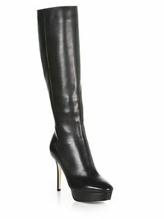Jimmy Choo - Major Leather Knee-High Platform Boots