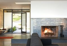 glass tile fireplace - Google Search