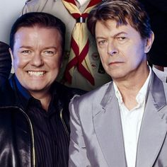 Ricky Gervais tribute to David Bowie after death, appeared in Extras