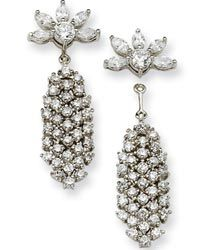One of Jackie's most prized and cherished pair of earrings. Waterfall Earring. GIVEN TO HER BY JFK AT CAROLINE'S BIRTH. ALSO A NECKLACE.