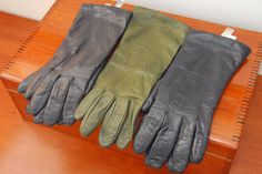 THREE BEAUTIFUL PAIR OF WOMENS LEATHER GLOVES, 2 CASHMERE LINED, 1 SILK LINED...
