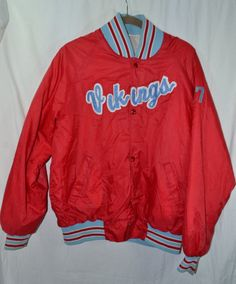 #Vintage #Satin #shiny #shimmery #jacket #vikings #17 #highschool #college for sale in my #etsy store