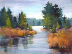 """Painting My World: Unexpected Underpainting Colors """"River of Peace"""" by Karen Margulis"""
