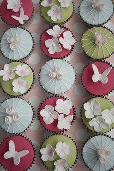 Asian-influenced decoration on these cupcakes is a delight — almost too good to eat.  #SilkRoadCollection