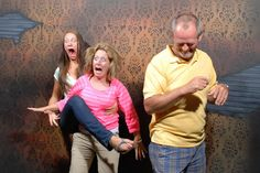 See the faces people really make in haunted houses....this is hilarious!