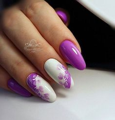 Purple and white look stunning together