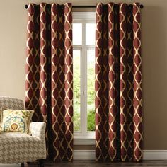 Moorish Tile Curtain - Wine
