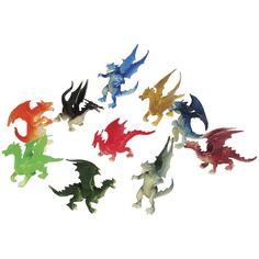 2 dozen mini dragon toy figures - party favors - prizes - fantasy - for sale online Dragon Birthday Parties, Dragon Party, Birthday Ideas, 5th Birthday, Karate Birthday, Fairy Birthday, Birthday Board, Dragons Love Tacos Party, Boy Party Favors