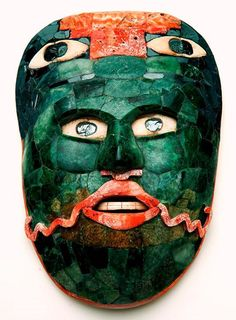 Maya small belt mask jade hematite and shell, Mexico. Source: musée du quai Branly