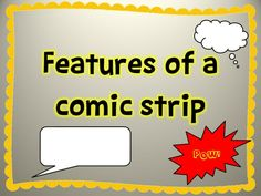 A short PowerPoint to introduce comic strips to children.  Looking at the different features such as caption boxes, speech bubbles, thought bubbles, action words.  Links well with the topic of Superheroes....