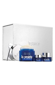 La Prairie 'Cherished Caviar' Set (Limited Edition) available at #Nordstrom. Great bonuses– the Luxe samples for the price of the Full-size Skin Caviar Luxe Cream