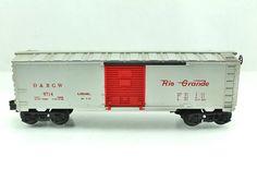 O Lionel D RGW 9714 Rio Grande Red Silver Box Car 6 9714   eBay