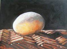 "Daily Painting, Still Life, ""Incredible Edible Egg"" -- Carol Schiff"