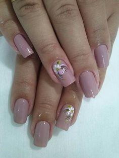 Cute Nails, Pretty Nails, Floral Nail Art, Beauty Junkie, French Nails, Nail Arts, Manicure And Pedicure, Nail Inspo, Long Nails