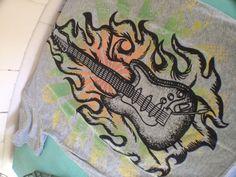 guitar shirt for a rocker girl