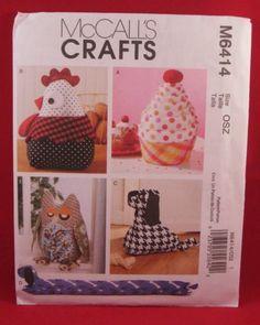 New McCall's 6414 Chicken Dog Owl Cupcake Door Draft Stops Sewing Pattern Uncut | eBay