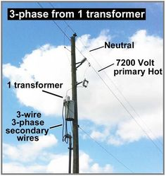 How to Wire 3-Phase from 1 Transformer?   Electrical Info PICS