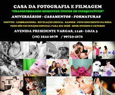 """CASA DA FOTOGRAFIA E FILMAGEM - """"Transformando Momentos Únicos em Inesquecíveis."""" ANIVERSÁRIOS - CASAMENTOS - FORMATURAS - ARARAS E REGIÃO (19) 3544-3678 AVENIDA PRESIDENTE VARGAS 1148 -  LOJA 3"""