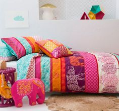 Ellie Quilt Cover Set by Kas Kids Let have tour to Africa with Ellie range by Kas Kids.