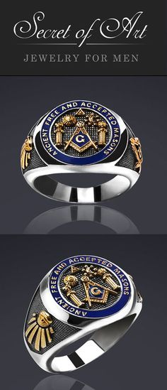 Very fine Masonic ring: A.F. & A.M. Ring Ancient Free & Accepted Masons, with pillars, sun & moon, All Seeing Eye. With filigree Symbols on the side of the ring: Compasses & square-tool and the All seeing eye. This high-quality silver ring is handmade in highest quality craftsmanship.