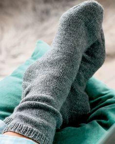 strikke sokker med mønster