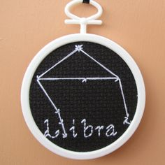 Handmade Cross Stitch Libra Astronomy Star Chart by RikkasCreations on Etsy
