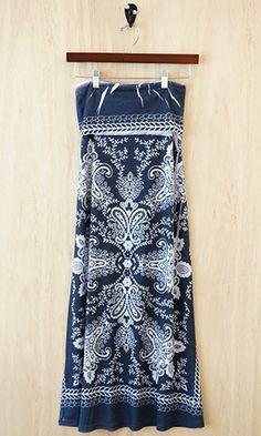 Multitasking Fold-Over Maxi Skirt, Batik Print
