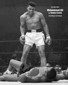 February 25, 1964: Muhammad Ali became the world heavyweight boxing champion as he defeated Sonny Liston in Miami Beach.