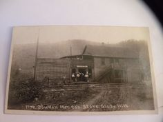 ANTIQUE RPPC PHOTO POSTCARD GLADY West Virginia store POST OFFICE Broadwater