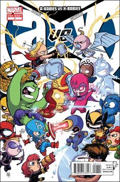 A-Babies vs X-Babies #1 Skottie Young Cover